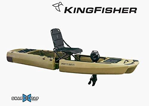 Point65 Kingfisher modulares Angelkajak Trimaran fishing Kajak Sit on Top Pedalantrieb, Farbe:Olive