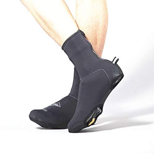 Fundas para zapatos de bicicleta, clásicas, fotosensibles, impermeables, impermeables, resistentes al viento, para bicicleta de montaña, carretera, para zapatos para hombres y mujeres (talla L)