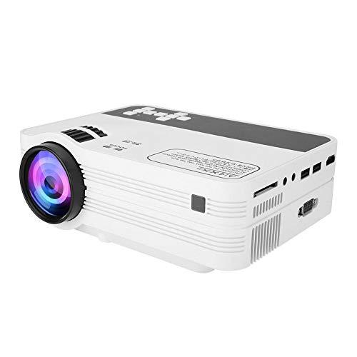 Proiettore portatile Full HD, proiettore video 1920 * 1080 2000Lumens, HDMI Player multimediale USB TF con telecomando per iPad iPhone Cell Phone PC Laptop(110-240V EU)