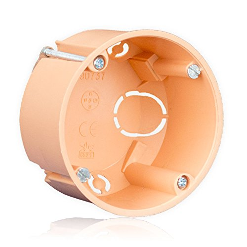 minify D45: 45mm Hohlwanddose (orange, 65mm Durchmesser) Hohlwand Schalterdose f. Trockenbau