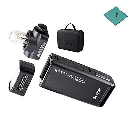 Godox AD200Pocket Flash luce Flash Portable Mini TTL Speedlite con 2Testine di luce gn52GN601/8000S HSS incorporato 2.4G Wireless X System 200W forte alimentazione per Nikon Sony Canon EOS
