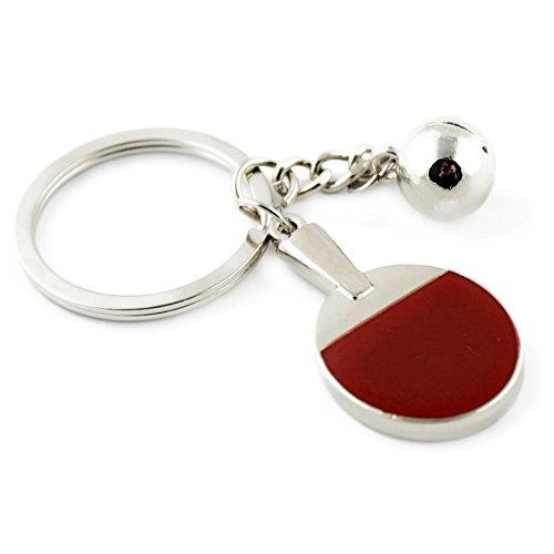 Kanggest 1 Piezas Llaveros de Coche ping pong Forma Pequeños Cadena de Clave Key Holder Para Decoración del Coche/Puerta/Teléfono/accesorio de bolso
