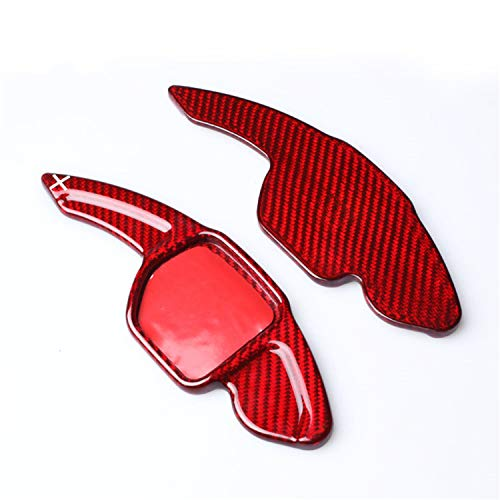 Genuine 100% Carbon Fiber Car Steering Wheel Shift Blade Paddle Shifter Extension For Audi A3 A4L A5 A6L A7 A8 Q3 Q5 Q7 R8 RS3 RS6 S5 S6 S7 S8 SQ5 TT TTS, Paddle Shift Trim For Men and Women - Red