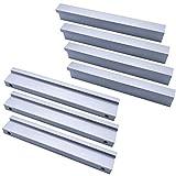 Qrity 10x Gabinete Manija de la Puerta de Aluminio Armarios Armarios Tirón de la Manija Conjunto Hogar Muebles de Cocina Hardware Perillas (64mm)