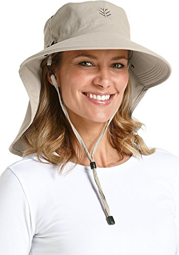 Coolibar Damen UV-Schutz Sonnenhut, Beige, OneSize