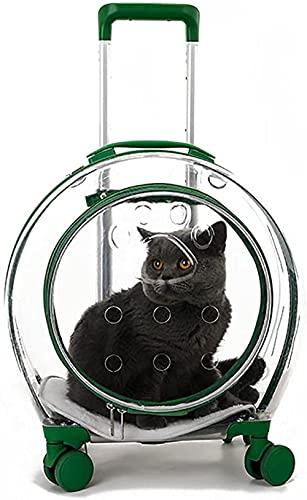 CDFCB Pet Pet Carrier Zaino Pet Carriers su Ruote per Cani e Gatti - Perfetto per Il Trasporto di Pet da Viaggio con Manico a Piedi telescopico Assemblaggio e Manutenzione
