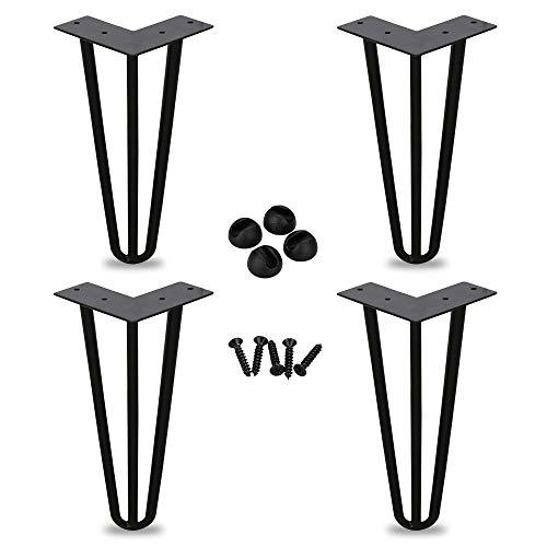 Juego de 4 patas de horquilla con varilla triple, 15 cm (6 pulgadas), para mesa de centro, mesa de comedor