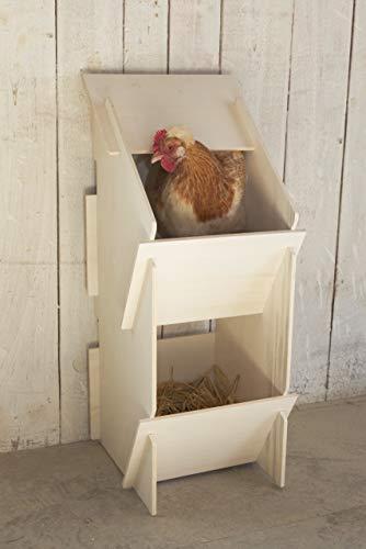 Kerbl 73005 Hühner Legenest aus Holz, unmontiert, 30 x 35 x 83 cm - 8