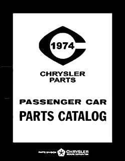 1974 Plymouth - Dodge - Chrysler - Imperial Factory MoPar Parts Manual