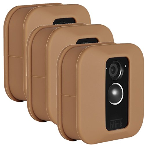 Blink XT Outdoor Camera Silicone Skin - Colorful Silicone Skin to Help Camouflage and Accessorize Your Home Security Camera - by Wasserstein (3 Pack, Brown)