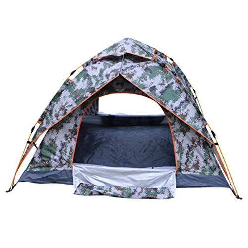 camuflaje pareja viajes camping tienda de campaña individual doble camuflaje digital tienda automática al aire libre impermeable camping campo camping tienda