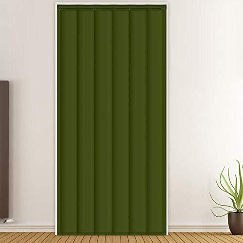 Wärmeschutzvorhang GGYMEI Baumwoll-Vorhang Winter Windundurchlässiger Schallisolierender Hauptschlafzimmerwohnzimmer-Isolierungsvorhang Oxford, Kundengerecht (Color : Green, Size : 80x200cm)