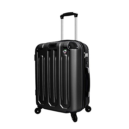 Mia Toro Regale Composite Hardside Spinner Carry-On, Black, One Size