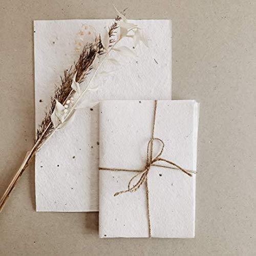 Samenpapier, Blütenpapier, Handgeschöpftes Papier, Büttenpapier | 10 Bögen A4
