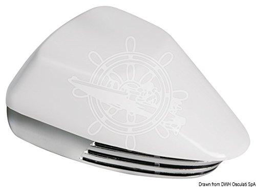 Osculati Membran-Bootshorn ABS, weiß + verchromt 12 V