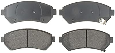 ACDelco Silver 14D699CH Ceramic Front Disc Brake Pad Set with Wear Sensor