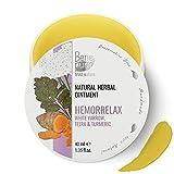 BenePura Hemorrelax 100% Natural Herbal Onguent 1,35 fl.oz 40ml - Achillée Blanche, Tétra et Curcuma - Un traitement Anal Naturel pour les Pieux - Agit favorablement sur la peau de l'anus