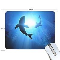マウスパッド かわいい 深海の光とフカ 高級 ノート パソコン マウス パッド 柔らかい ゲーミング よく 滑る 便利 静音 携帯 手首 楽