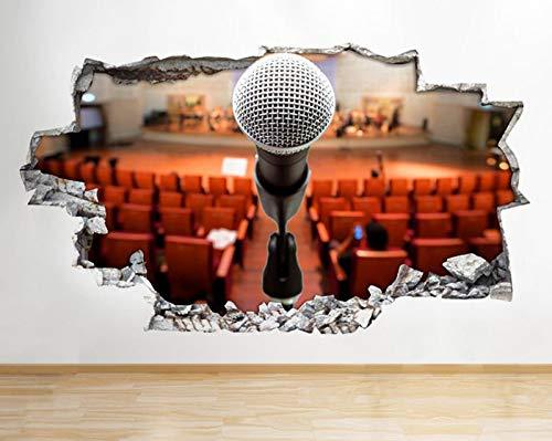 Q713 microfoon podium slaapkamer zaal verslaan muursticker 3D kunst sticker vinyl RoomLarge