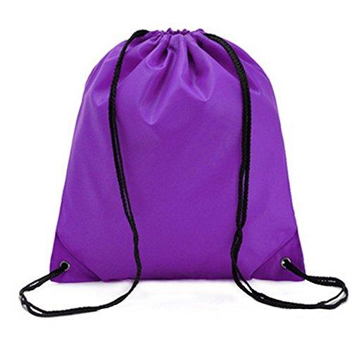 Westeng - Mochila de cordón estilo bolsa, impermeable, color sólido, para deporte y viajes