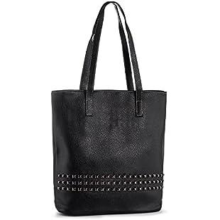 Rivets Large Tote Bag Women Shoulder Bags Vegan Leather Ladies Handbags for Work Shopping Uni (fits A4 Format)