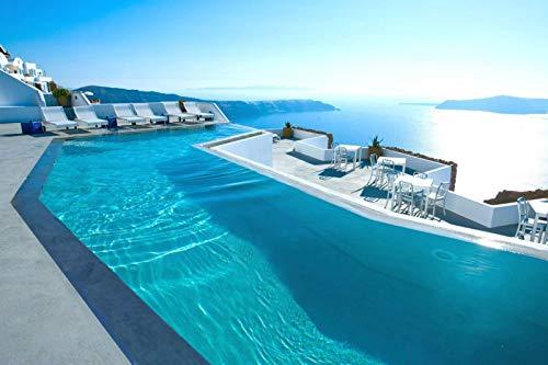 1000 Piezas De Rompecabezas Para Adultos Santorini Grecia Piscina Sea Hotel Montaje De Madera Decoración Para El Hogar Juego De Juguetes Juguete Educativo Para Niños Y Adultos