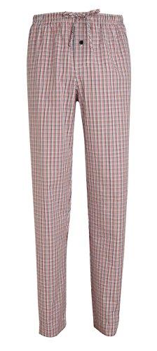 Jockey® Schlafanzughose, Schwarz-Rot-Blau kariert, Größe 4XL