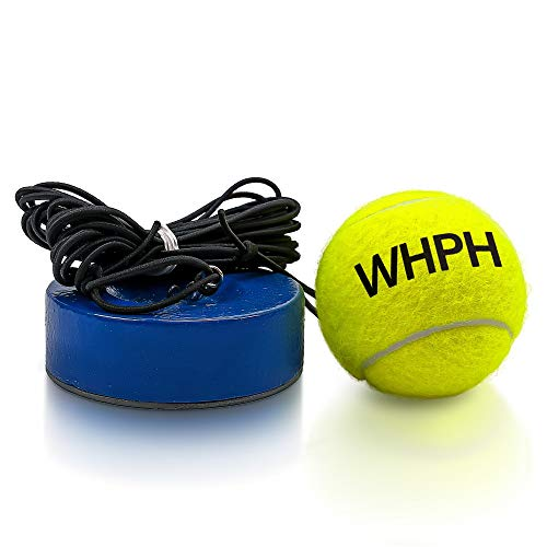 Whph Weighted Tennis Trainer Rebounder Ball | Heavy Baseboard with Elastic Rope Solo Equipment Practice Training Aid Serve Hopper Base Powerbase Power Base Rebounder Pro