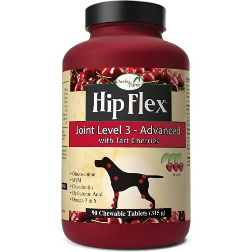 NaturVet Overby Farm HIP FLEX LEVEL 3 Joint Mobility Dog Supplement 90 Tablets