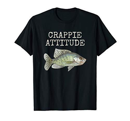 Crappie Attitude   Crappie Fishing   White Crappie T-Shirt