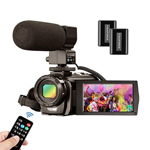 Videocámara MELCAM Cámara de Video HD 1080P 30FPS 24MP Pantalla LCD de 3...