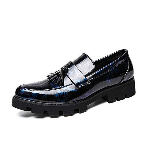 Formaat, plat, ademend business Oxford casual mode kleurendruk vervagen niet kwast decoratieve formele schoenen van lakleder Oxford Shoes voor mannen