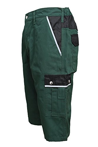 TMG Short Kurze Hose Shorts Arbeitshose Bundhose Gruen Gr. 48