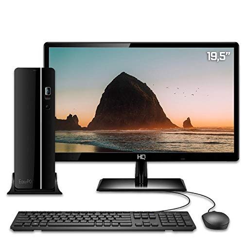 Computador Desktop Completo com Monitor 19.5 HDMI EasyPC Slim Intel Core i3 6GB SSD 240GB HDMI Full HD