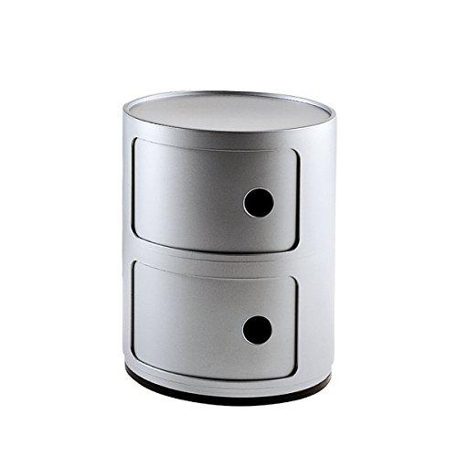 Kartell - Componibili Container - 2 Elemente - Silber - Anna Castelli Ferrieri - Design - Container