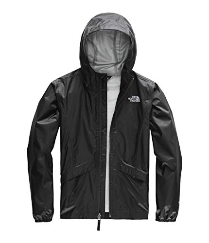 The North Face Girl's Zipline Rain Jacket, TNF Black, Size XL