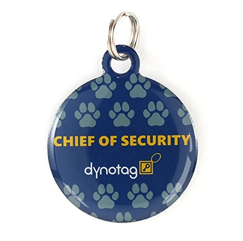 Dynotag Web Enabled Super Pet ID Smart Tag with DynoIQ & Lifetime Recovery Service. Play Series: Round (Chief of Security)