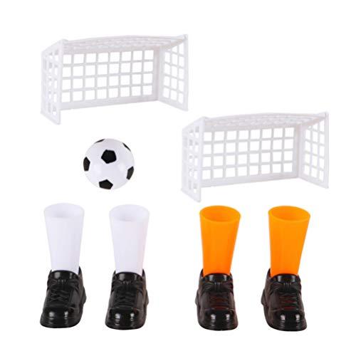 IMIKEYA 3 Set di Giochi da Calcio con Dita Set di Mini Giocattoli di Plastica in Plastica Giocattoli da Tavolo Giochi di Partite di Calcio Set di Giochi Educativi Sportivi