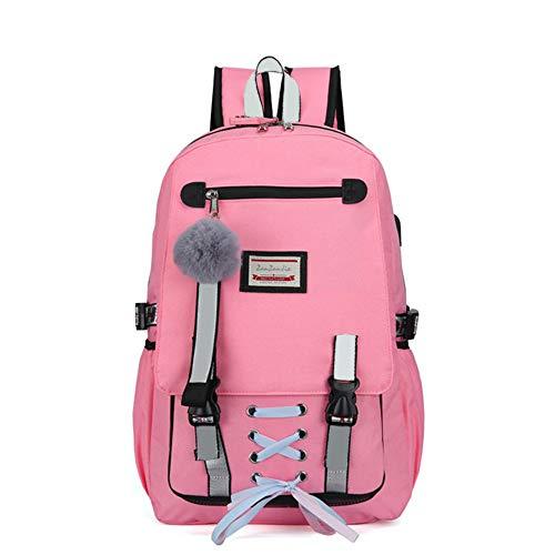 Mochila para Portátil,Mochila Gran Capacidad Escolar Liviana Mujer Puerto Carga USB Bolsas Hombro Viaje Mochila de Negocio hasta(30 * 14 * 47cm)
