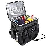 Koolatron D25 Hybrid Portable 12V Cooler Bag with Shoulder Strap, Iceless, 24.5 Liter / 26 Quarts Capacity For Camping, Travel, Picnic, Boating