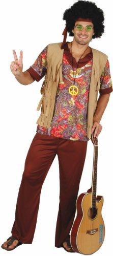 Disfraz de hippie para hombre XL