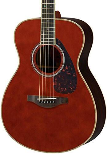 Yamaha L-Series LS16R Solid Rosewood Acoustic-Electric Guitar w/ Case, Brown...