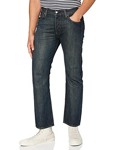 Levi's 501 Original Fit Deal Jeans Straight, Blue Dark Clean, 33W / 30L Uomo