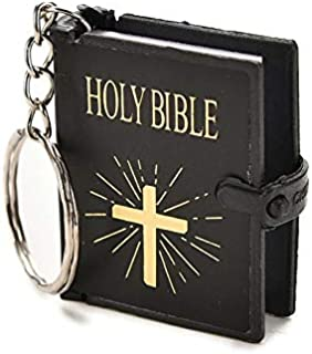 SOLDOUT™ English Version Small Size Holy Bible Key Chain Christian Jesus Key Ring Keyring Gift Religion Book Keychain Pray...