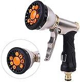 ZFQZKK Nuevo 9 Patrón Dial Lavadora de Alta presión Limpieza de automóvil Metal Latón Agua Spray Boquilla Accesorios para jardín de Manguera de Trabajo Pesado detallando el Coche