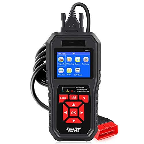 Alta calidad KW850 OBD2 Herramientas de escáner de diagnóstico de automóvil OBD 2 Herramienta de diagnóstico automático Motor de cheques Automotriz Coche Lector de códigos Negro Herramientas de diagnó