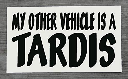 Dr Who Sticker Mijn Andere Voertuig Is Een Tardis Zwart Sticker voor Auto - HSS172