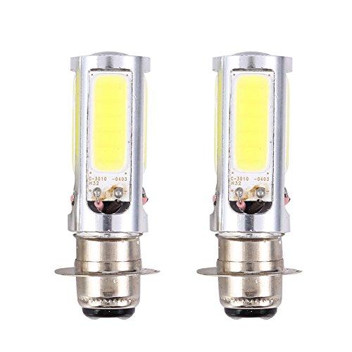 EBTOOLS 12 V-lampen, 2 x 6000 K H6M COB wit LED kleur mistlampen voor fiets/MTB (PX15d P15D25-1)