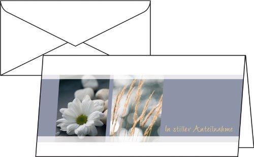 SIGEL DS208 Trauerkarten Anteilnahme, DIN lang, 10er Set mit Umschlag ohne Text