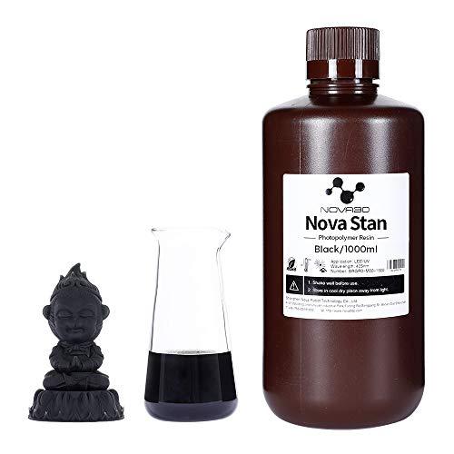 NOVA3D LCD UV 405nm Rapid 3D Resin for LCD DLP 3D printer Photopolymer Resin Black, 1000g